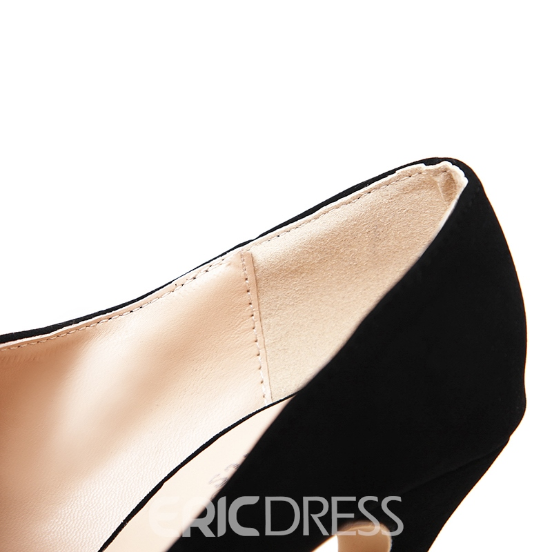 Ericdress All Match Plain Slip-On Stiletto Heel Pumps