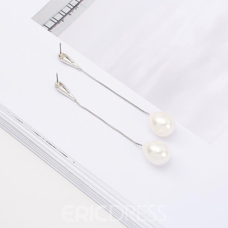 Ericdress Classic Imitation Pearl Drop Earring for Women