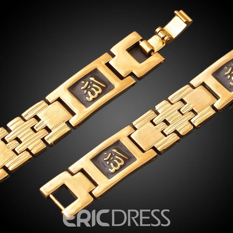 Ericdress Muslim 18K Copper Gold Plating Men's Bracelet