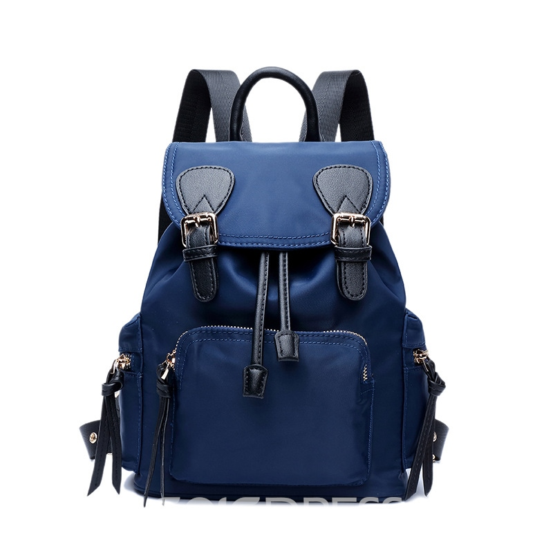 Ericdress Causal Solid Color Canvas Backpack