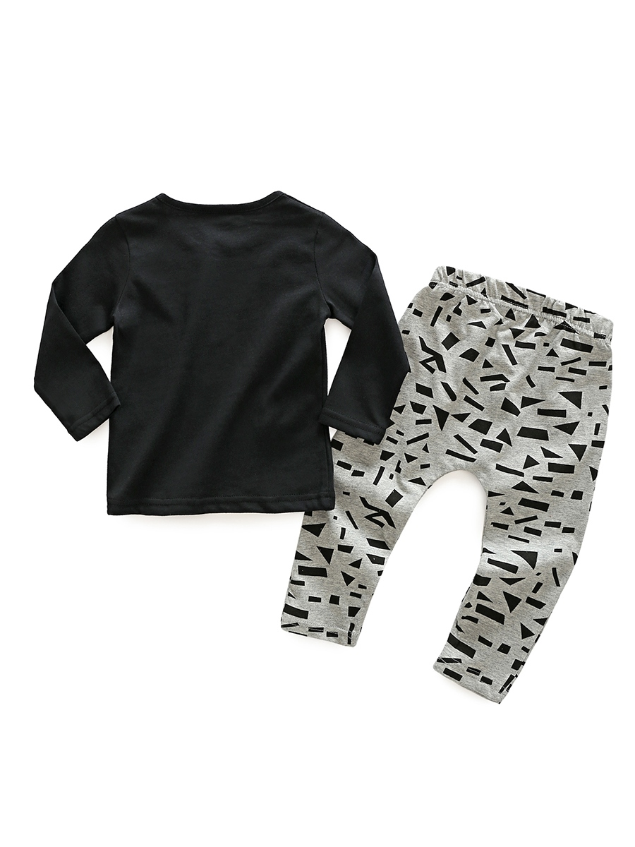 Ericdress Letter & Geometric Print Baby Boy's 2-Pcs Outfit