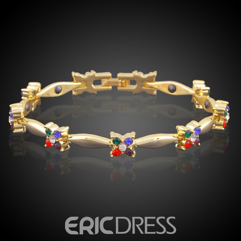 Ericdress Hot Kirsite Diamante Bracelet for Women