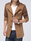Ericdress Notched Lapel Patchwork Men's Trench Coat