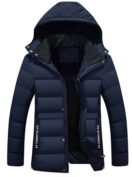 Ericdress Hooded Thicken Zipper Men's Winter Jacket