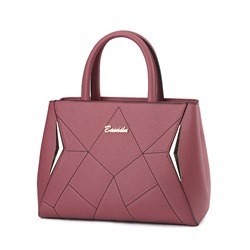 Ericdress All Match Solid Color Embossing PU Handbag