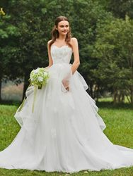 Ericdress Sweetheart Ball Gown Tulle Appliques Wedding Dress