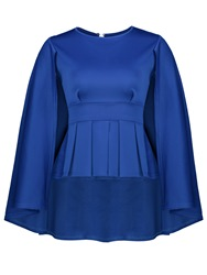 Ericdress Plain Pleated Batwing Sleeve Blouse