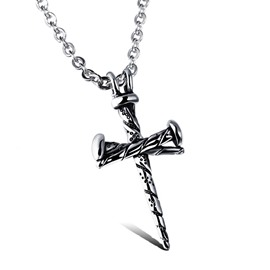 Ericdress Cross Pendant Steel Necklace for Men
