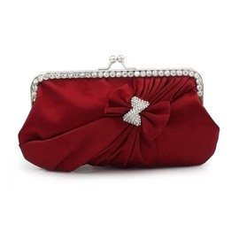 Ericdress Korean Style Bowknot Satin Evening Clutch