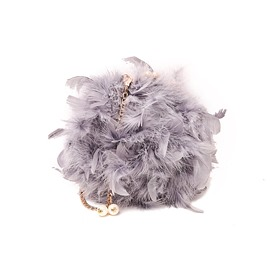 Ericdress Circular Shape Soft Feather Crossbody Bag