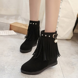 Ericdress Rivet Tassel Plain Women's Ankle Boots