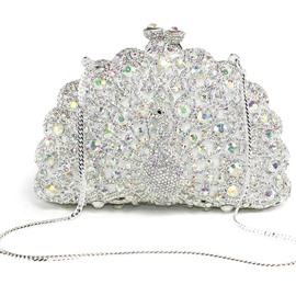 Ericdress Peacock Rhinestone Design Mini Evening Clutch