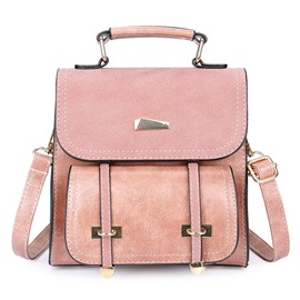 Ericdress Casual Solid Color Matting Women Backpack
