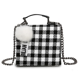 Ericdress All Match Plaid Balls Pendant Cross Body Bag