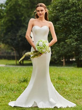 Ericdress Sweetheart Mermaid Matte Satin Garden Wedding Dress