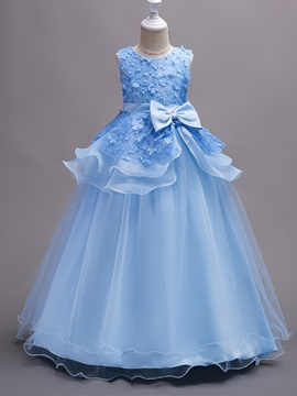 Ericdress Ball Gown Lace Floor Length Flower Girl Party Dress