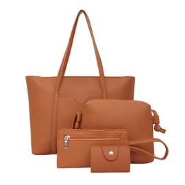 Ericdress Concise Solid Color Women Handbag(4 Bag Set)