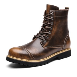 Ericdress Cool Round Toe Lace-Up Men's Martin Boots