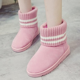 Ericdress Stripe Round Toe Women's Snow Boots