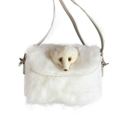 Ericdress Artificial Fox Design Plush Crossbody Bag