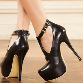 Ericdress Sexy Round Toe Platform Stiletto Heel Prom Shoes