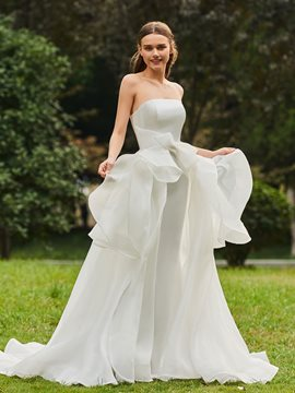 Ericdress Strapless A Line Garden Wedding Dress