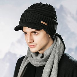 Ericdress Warm Thicken Pure Color Short Brim Men's Hat