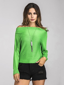 Ericdress Off-Shoulder Plain Knitwear
