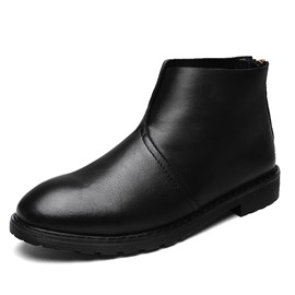 Ericdress British Round Toe Plain Men's Boots