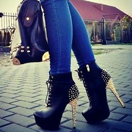 Ericdress Gorgeous Cross Strap Platform Stiletto Heel Boots