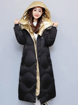 Ericdress Thick Epaulet Mid-Length Hooded Coat