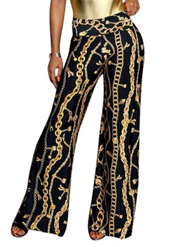 Ericdress Wide Leg Print Women's Pants