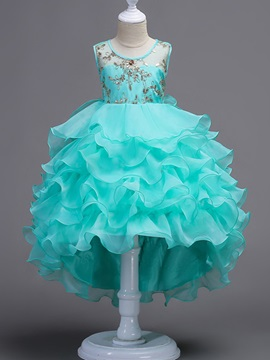 Ericdress Scoop Ball Gown High Low Flower Girl Party Dress