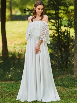 Ericdress Off the Shoulder A Line Lace Wedding Dress
