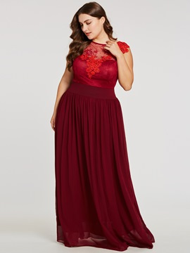 Ericdress Plus Size Lace Appliques A Line Evening Dress