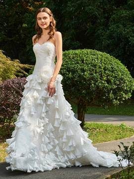 Ericdress Sweetheart A-Line Garden Wedding Dress