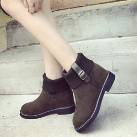 Ericdress Buckle Patchwork Plain Women's Ankle Boots