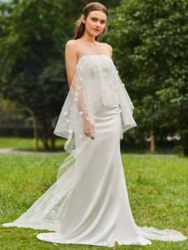 Ericdress Strapless Mermaid Lace Wedding Dress