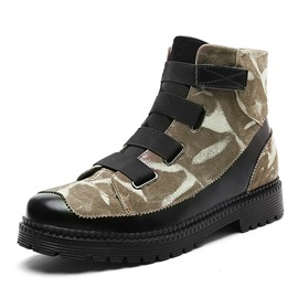 Ericdress Camouflage Print Patchwork Men's Ankle Boots