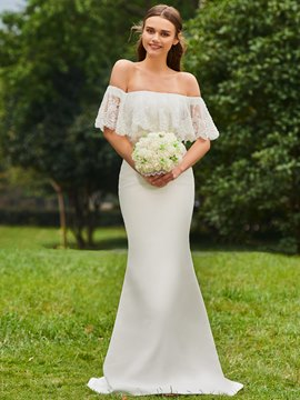 Ericdress Off the Shoulder Mermaid Outdoor Wedding Dress