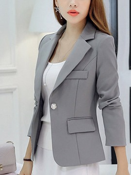 Ericdress Notched Lapel One Button Slim Blazer