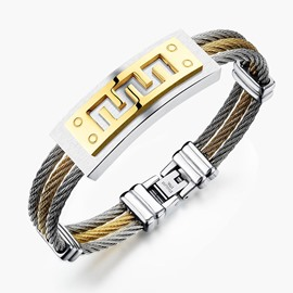 Ericdress Creative Titanium Steel Men's Bracelet