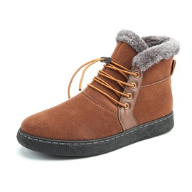 Ericdress Warm Plain Lace-Up Men's Boots
