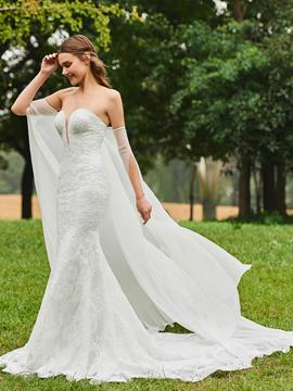 Ericdress Sweetheart Mermaid Lace Garden Wedding Dress