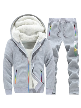 Ericdress Hooded Long Pant Men's Tracksuit Outfit