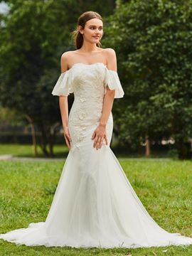 Ericdress Sweetheart Mermaid Appliques Tulle Wedding Dress