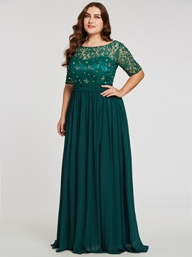 Ericdress Half Sleeves Beaded A Line Evening Dress