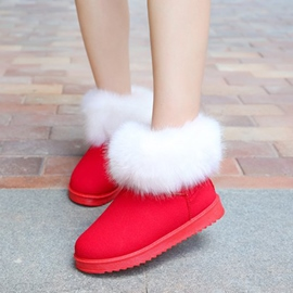 Ericdress Fur Decorated Slip-On Women's Snow Boots