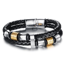 Ericdress High End Leather Weave Men's Bracelet