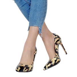 Ericdress Print Pointed Toe Slip-On Stiletto Heel Pumps